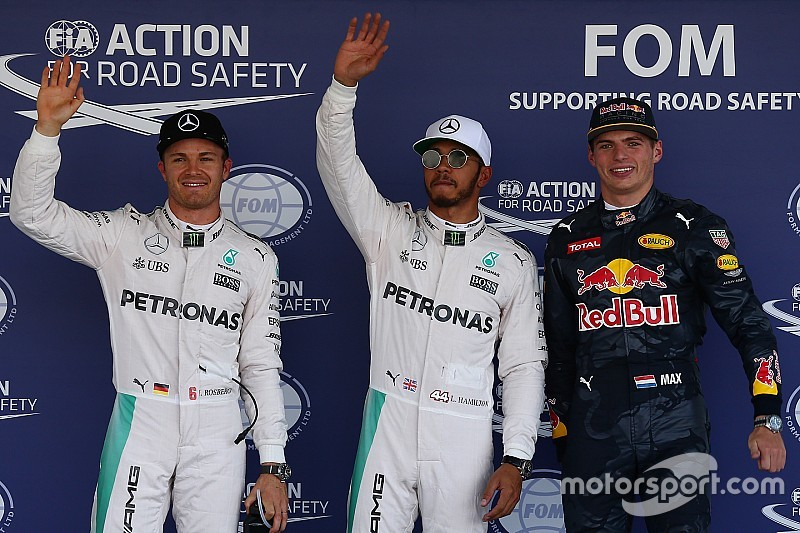 Mexican GP: Hamilton on pole as Rosberg pips Red Bulls