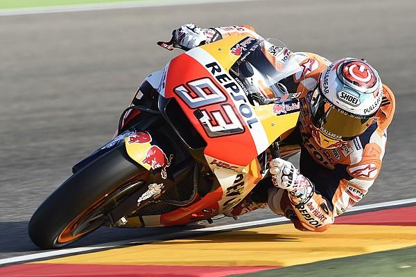 MotoGP Gara Marquez sbanca Aragon e scappa. Rossi stoico 5°, Dovi solo 7°