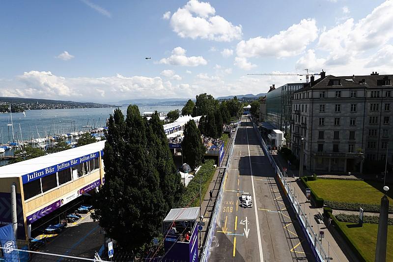 La parrilla de inicio para el E-Prix Zurich