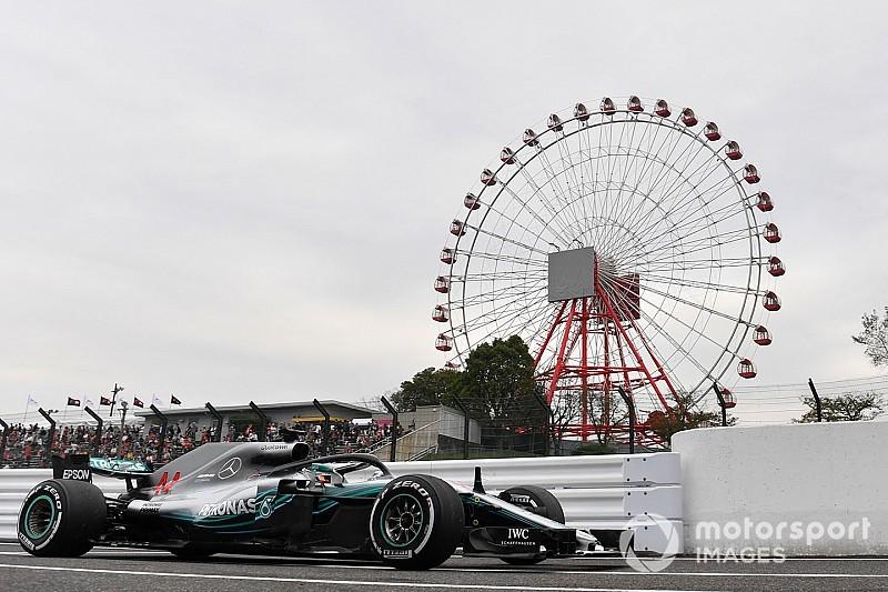 Hamilton lidera el 1-2 de Mercedes en Japón
