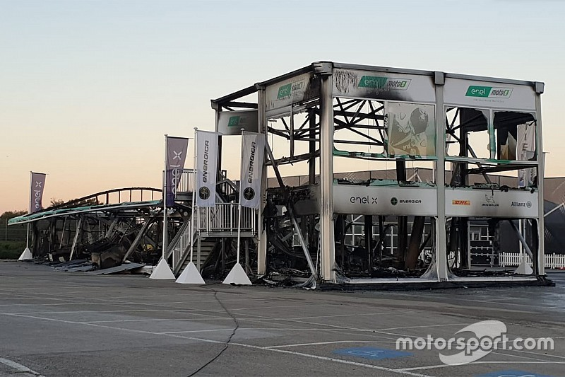 MotoE opener cancelled after paddock fire