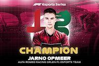 Opmeer pakt titel in F1 Esports Pro Series 2020