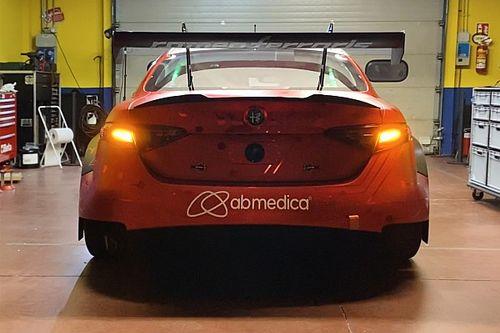 L'Alfa Romeo Giulia ETCR completa l'installazione delle batterie