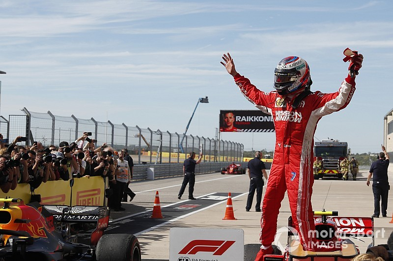 F1アメリカ決勝:ライコネン、跳ね馬復帰後初勝利。ハミルトン王者決定ならず