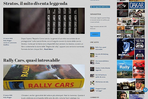 "Special projects Ultime notizie ""Libri di Rally"", la memoria di uno sport in un blog"