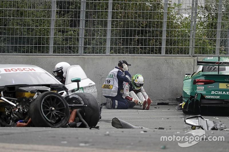 Bei DTM-Unfall am Norisring: Mike Rockenfeller erleidet Knochenbruch