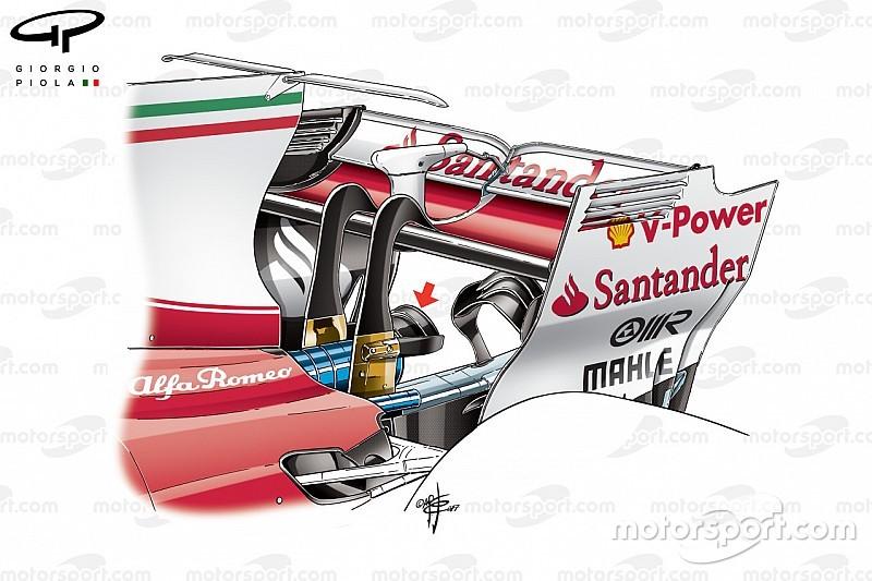 Análisis técnico: el doble monkey seat de Ferrari
