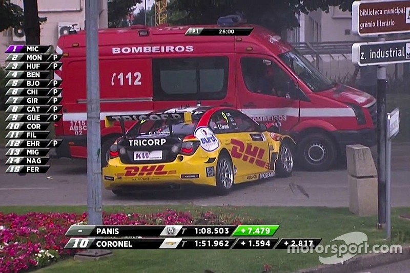 Video: Tom Coronel chocó con una camioneta de bomberos