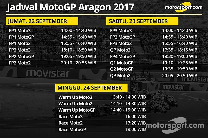 Jadwal lengkap MotoGP Aragon 2017