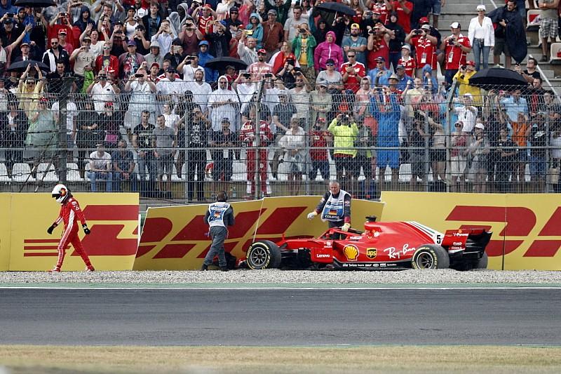 Vettel tabrak dinding saat memimpin GP Jerman