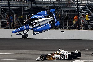 "IndyCar Breaking news Castroneves on Dixon shunt: ""They were flying. I duck, close my eyes"""