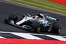 【F1イギリスGP】FP3速報:小雨でハミルトンがトップ。ベッテルが2番手