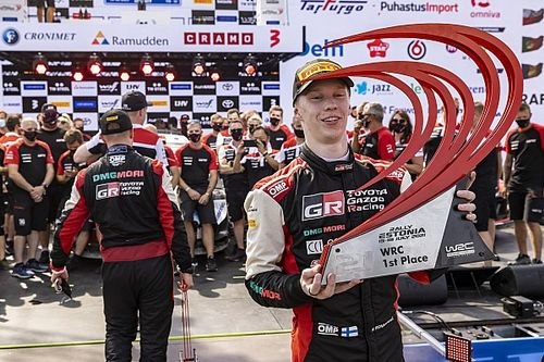 """Harri Rovanpera """"unsure how heart is working"""" after son's WRC win"""