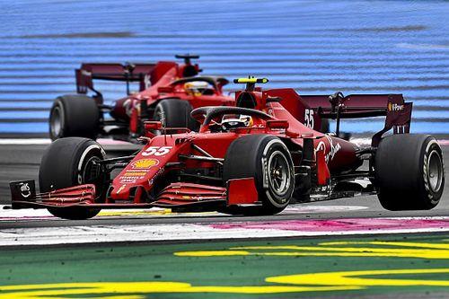 """フェラーリ、フランスGPで数年前からの""""持病""""が出た? サインツJr.「聞いてはいたけど、ここまでとは……」"""