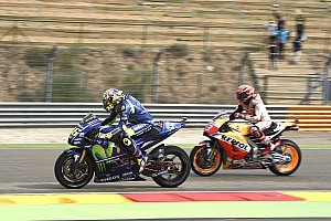 MotoGP Verslag vrije training Marquez kopman in derde Aragon-training, Rossi naar Kwalificatie 2