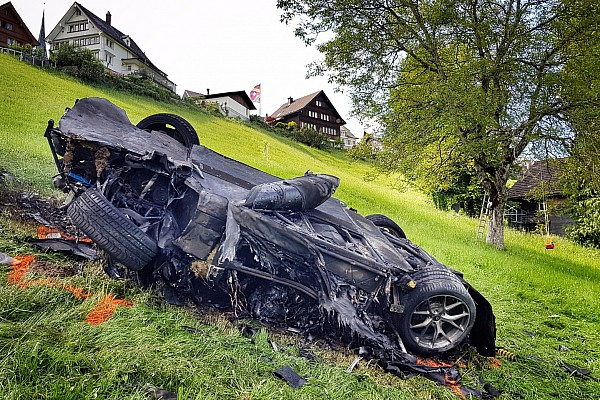 El accidente de Hammond ocurrió luego de cruzar la meta