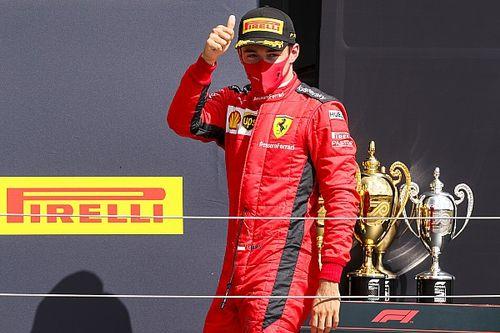 """Leclerc celebra pódio, mas fala que carro não está onde gostaria: """"Aproveitamos todas as oportunidades que apareceram"""""""
