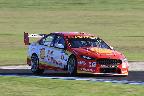 Supercars Qualifying report Phillip Island Supercars: McLaughlin leads all-Penske front row
