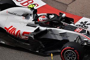 Fórmula 1 Noticias Haas tuvo que quitar elementos frágiles de su bargeboard