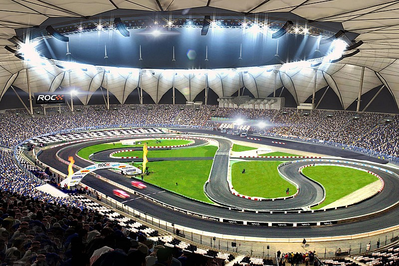 race of champions returns to crossover track layout. Black Bedroom Furniture Sets. Home Design Ideas