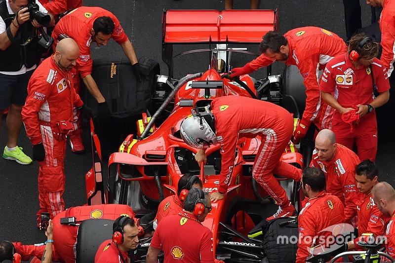 Ferrari: il motore 2 di Vettel ha la testata alleggerita