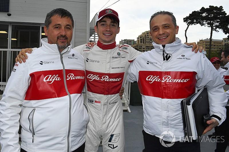 Azerbaycan'da günün pilotu Leclerc oldu