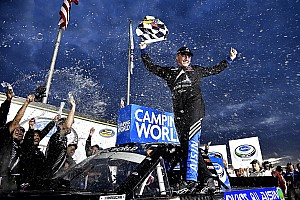 NASCAR Truck Race report Moffitt takes wild Truck win at Atlanta after drama for Kyle Busch