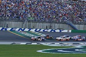 NASCAR Cup Breaking news All three NASCAR national series to see new left-side tire at Kentucky