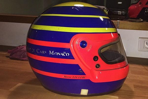 FIA F2 Ultime notizie Leclerc svela il casco che userà nelle gare finali di F.2: è un omaggio al padre