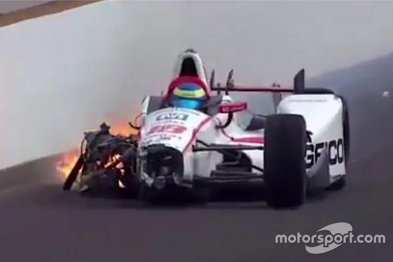 Bourdais sufre un duro accidente en la calificación de Indy 500