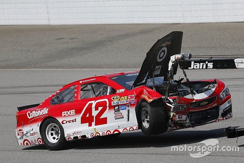 "Larson calls crash one of ""hardest hits"" of his NASCAR career"