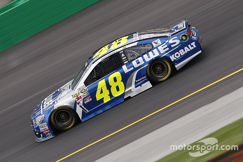 Severe weather halts Cup practice, Jimmie Johnson to a backup