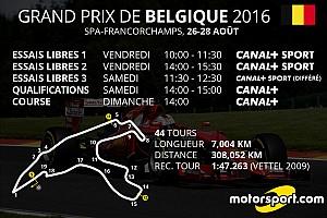 Formule 1 Actualités Le programme TV du Grand Prix de Belgique