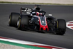 F1 テストレポート バルセロナテスト初日午前:グロージャン最速。視認性強化ライト登場