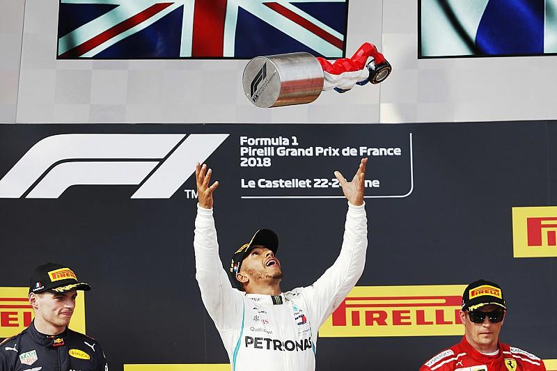 GP Perancis: Hamilton dominan, Vettel tabrak Bottas