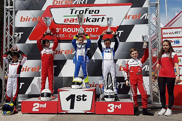 Kart Race report Alva misses out on victory in third EasyKart round