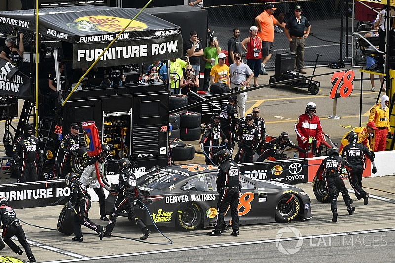 Furniture row racing takes over management of its pit crews for Furniture row racing