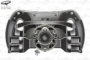 F1 Análisis Mercedes introduce unos agujeros en su volante para ayudar en las salidas