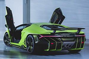 Automotive Breaking news Next Lamborghini Centenario lands in Hong Kong wearing lime green