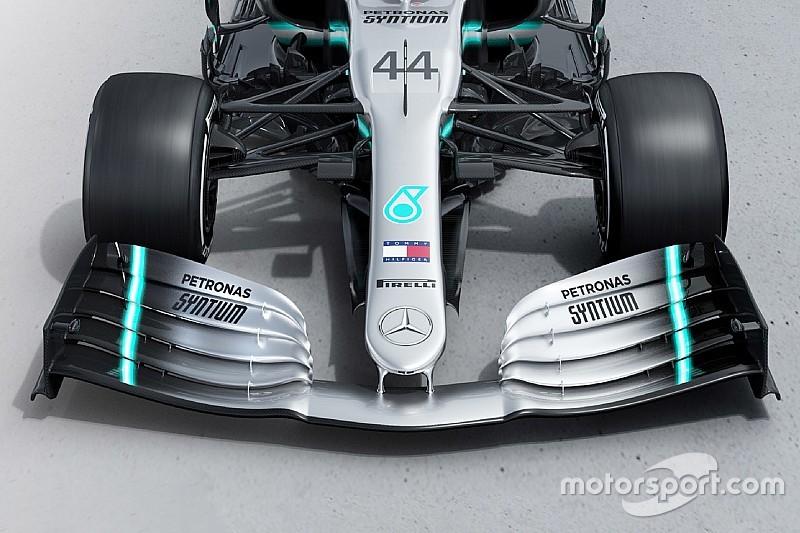 Mercedes W09 Vs. Mercedes W10: első szárny