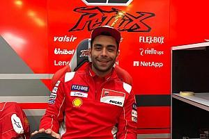Petrucci ha una voglia matta di Rosso: oggi indossava già i colori ufficiali Ducati