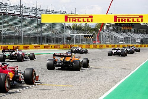 La parrilla de salida del GP de Emilia Romagna de F1 en Imola