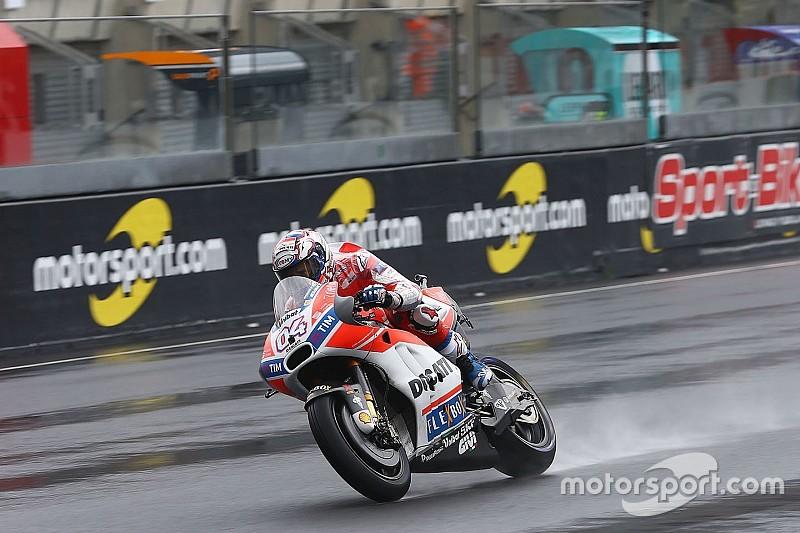 Le Mans MotoGP 2. antrenman: Yağmurda Dovizioso lider
