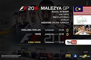 FORMULA 1 LİGİ Son dakika F1 2016 online turnuva: Malezya GP - Canlı Yayın