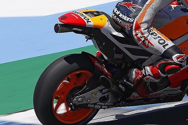 """MotoGP Márquez y Pedrosa aseguran que el nuevo escape de Honda """"tiene potencial"""""""