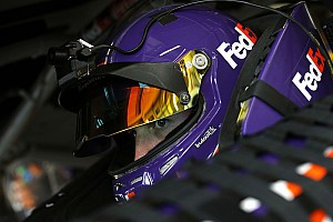 NASCAR Cup Race report Denny Hamlin takes Stage 2 win in one-lap shootout at Kansas