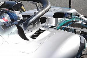 Formula 1 Analisi Mercedes: c'è uno sfogo di aria calda dietro all'attacco dell'Halo