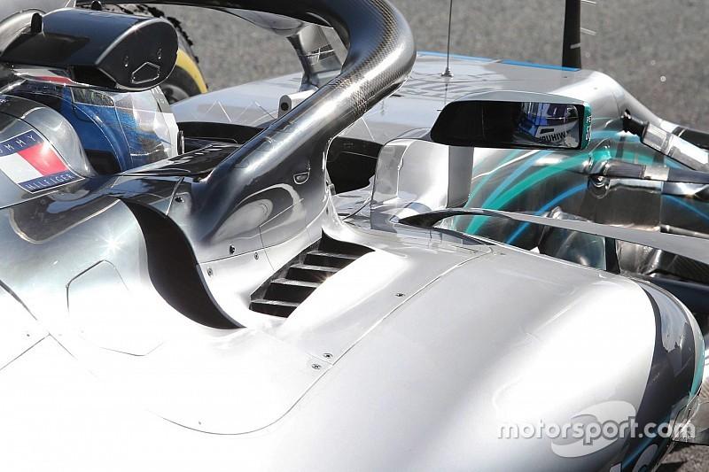 Mercedes: c'è uno sfogo di aria calda dietro all'attacco dell'Halo