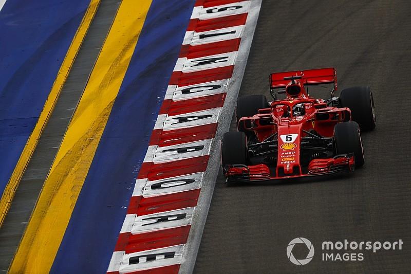 Vettel, karmaşık Singapur GP'si sıralama turlarına sinirlenmiş