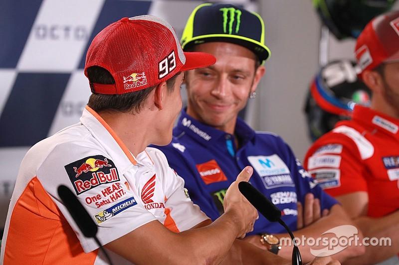 Rossi recusa aperto de mão e se nega fazer as pazes com Márquez